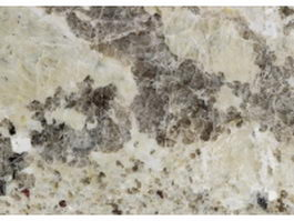 Closeup of andraw white granite slab texture
