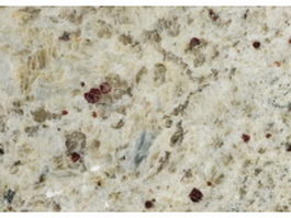 Close-up of Venetian gold granite slab surface texture