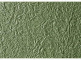 Dark olive green crumpled paper texture