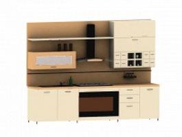 American midcentury kitchen 3d model