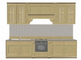 Apartment kitchen design 3d model