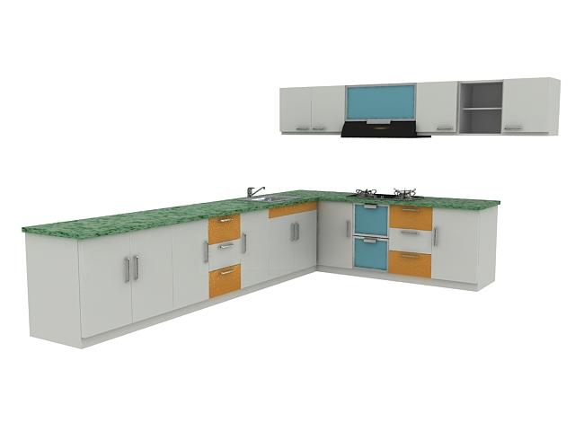 Minimalist Kitchen Cabinet Design 3d Model 3dsmax Files Free Download Modeling 16334 On Cadnav