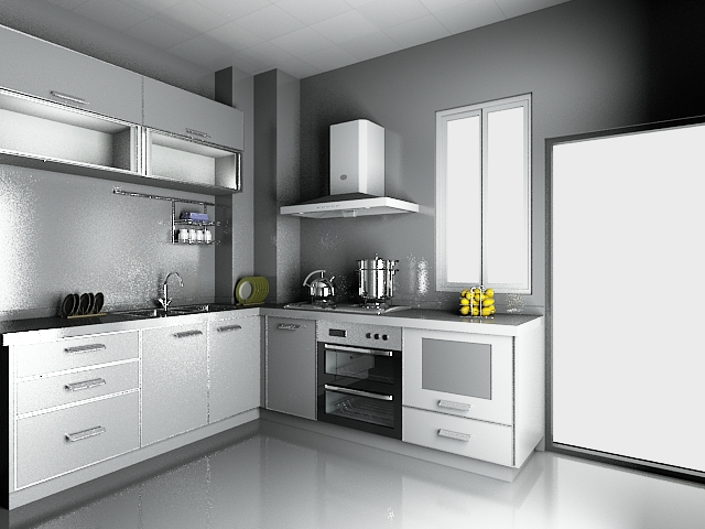 Modern luxury kitchen design 3d model 3dsmax files free for Model kitchen images