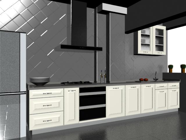 Minimalist Kitchen Design 3d Model 3dsMax Files Free