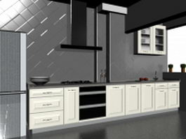 Minimalist kitchen design 3d model