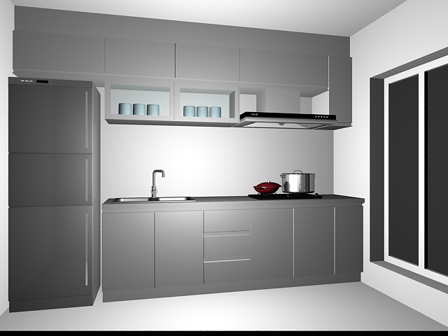 Small Kitchen Cabinet Design 3d Model 3dsMax Files Free Download Modeling 1