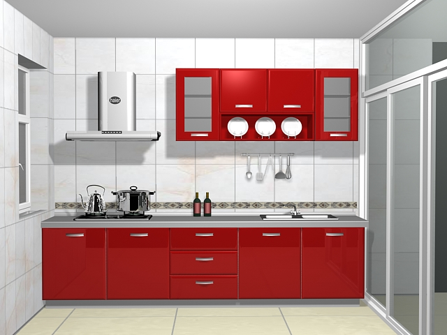 Small Galley Kitchen 3d Model 3dsmax Files Free Download
