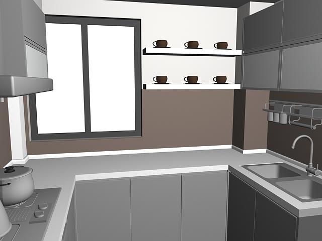 Kitchen And Dining Set Design 3d Model 3dsmax Files Free Download Modeling 16374 On Cadnav
