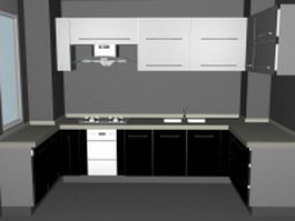 Small U-kitchen ideas 3d model