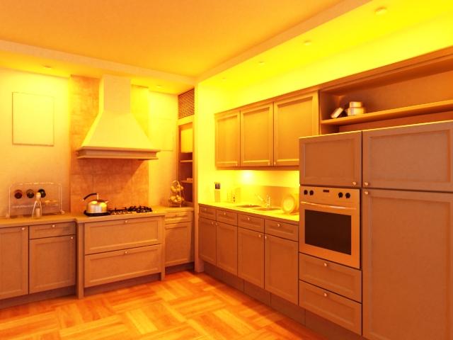 Luxury Kitchen Design 3d Model 3dsmax Files Free Download