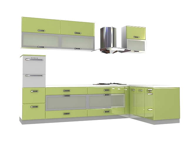 Olive Green Kitchen Cabinets 3d Model 3dsmax Files Free