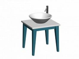 Bathroom basin stand 3d model