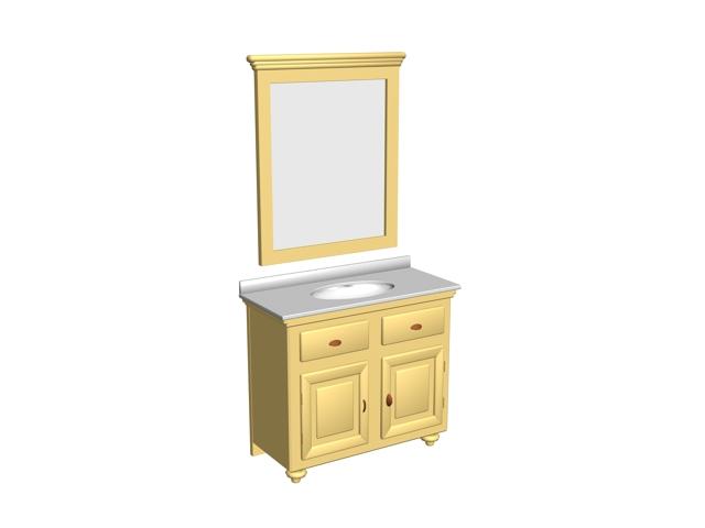 Yellow Bathroom Cabinet 3d Model 3dsmax Files Free Download Modeling 16472 On Cadnav
