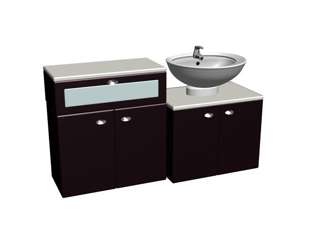Bathroom Vanity Cabinets 3d Model 3dsmax Files Free Download Modeling 16475 On Cadnav