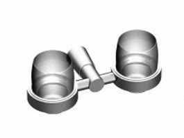 Double cup tumbler holder 3d model