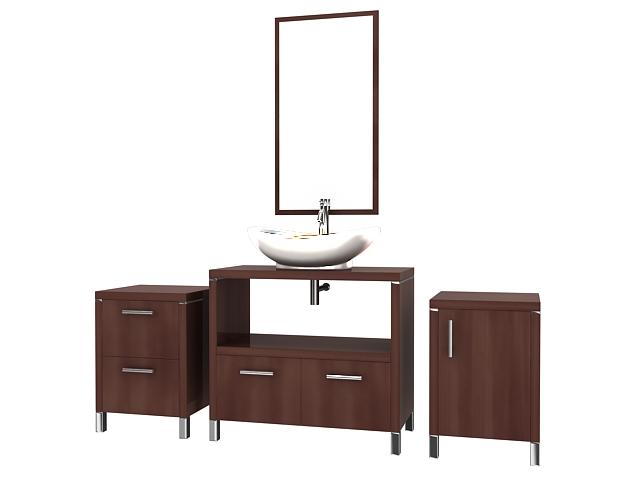 Wooden Bathroom Vanity Cabinet 3d Model 3dsmax Files Free Download Modeling 16561 On Cadnav