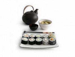 Japanese food sushi 3d model