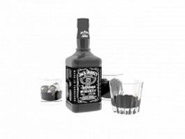Liquor jack daniels 3d model