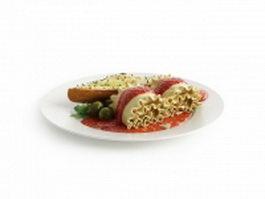 French dinner 3d model