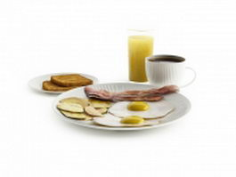 Full breakfast 3d model
