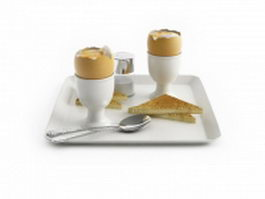 Continental breakfast 3d model