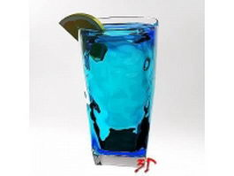 Blue lagoon cocktail 3d model