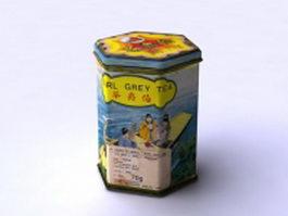 Earl grey tea 3d model