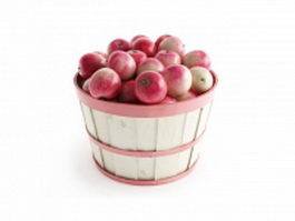 A basket full of apples 3d model