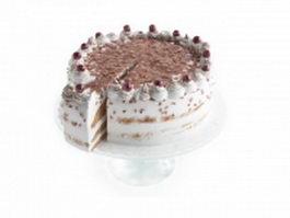 Layered chocolate cake 3d model