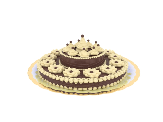 Chocolate Cake 3d Model 3dsmax Files Free Download Modeling 16632