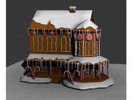 Gingerbread house cake 3d model