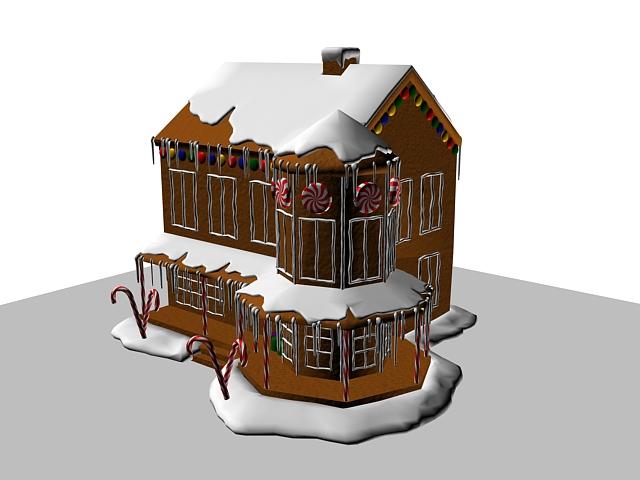 Virtual Cake Design Program : Gingerbread house cake 3d model 3dsMax files free download ...