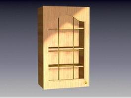 Wood cupboard design 3d model