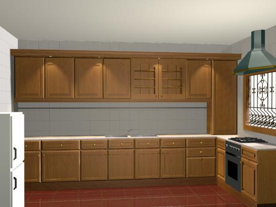 L shaped kitchen design 3d model 3dsmax 3ds files free for Kitchen cabinets 3d design