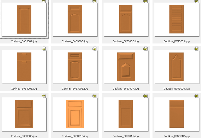 12 Kitchen Cabinet Doors Collection 3d Model 3dsmax 3ds