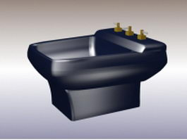 Floor stand bidet 3d model