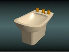 Women toilet bidet 3d model