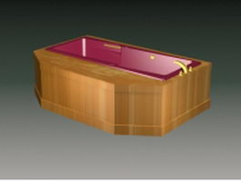 Built in bathtub 3d model