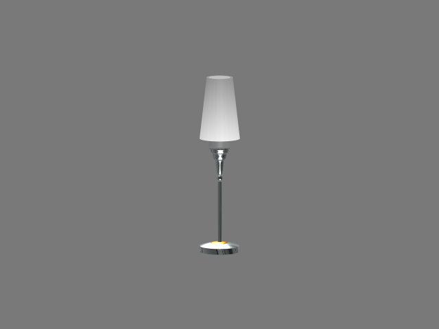 Simple Metal Table Lamp 3d Model 3dsmax 3ds Autocad Files