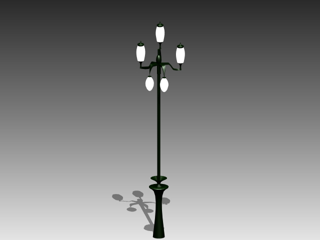 Street Light With Lamps 3d Model 3dsmax 3ds Autocad Files