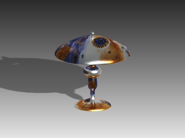 Fancy table lamp 3d model 3dsMax,3ds,AutoCAD files free download