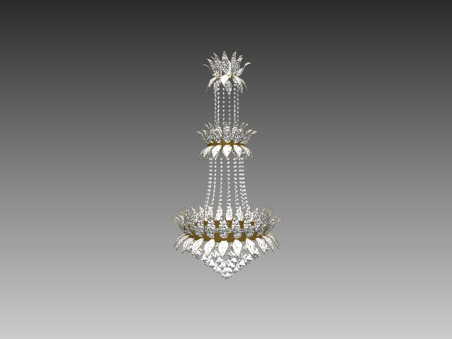 Crystal Chandelier 3d Model 3dsmax 3ds Autocad Files Free