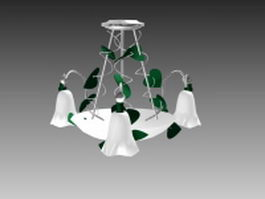 Flower pendant light 3d model