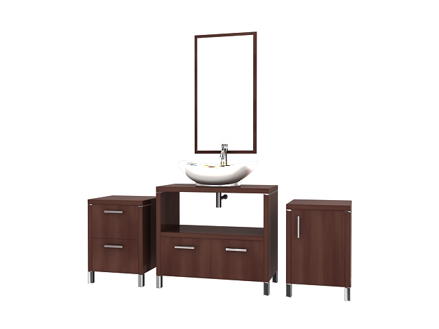Bathroom Vanity Units 3d Model 3dsmax Files Free Download Modeling 16869 On Cadnav