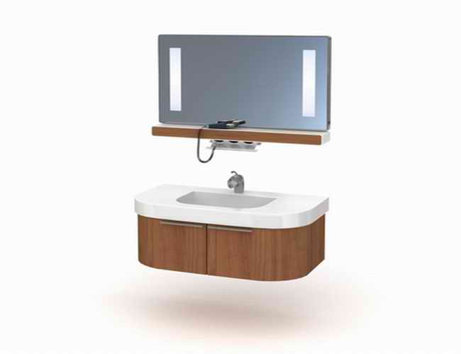 Bath Vanity Sink With Mirror 3d Model 3dsmax Files Free Download Modeling 16880 On Cadnav