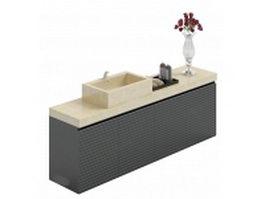Marble top vanity sink 3d model