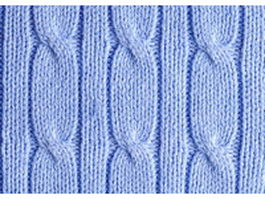 Blue cable knitting pattern texture
