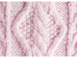 Close-up of pink wool knitting fabric texture
