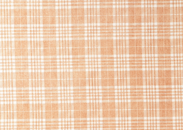 Orange plaid fabric texture