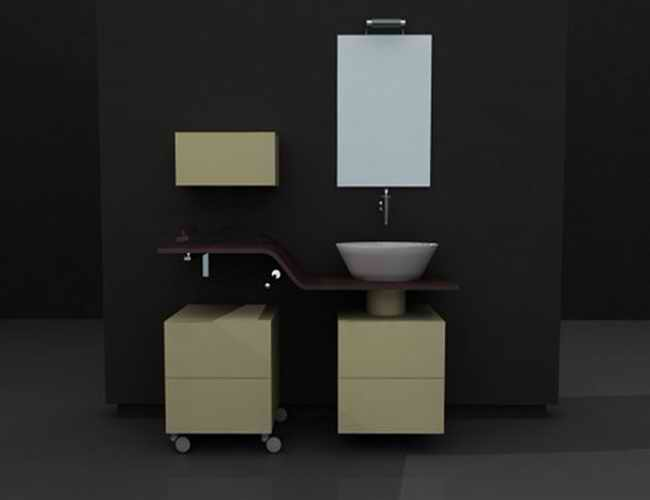 Bathroom Design 3d Model : Bathroom vanity design ideas d model dsmax ds autocad
